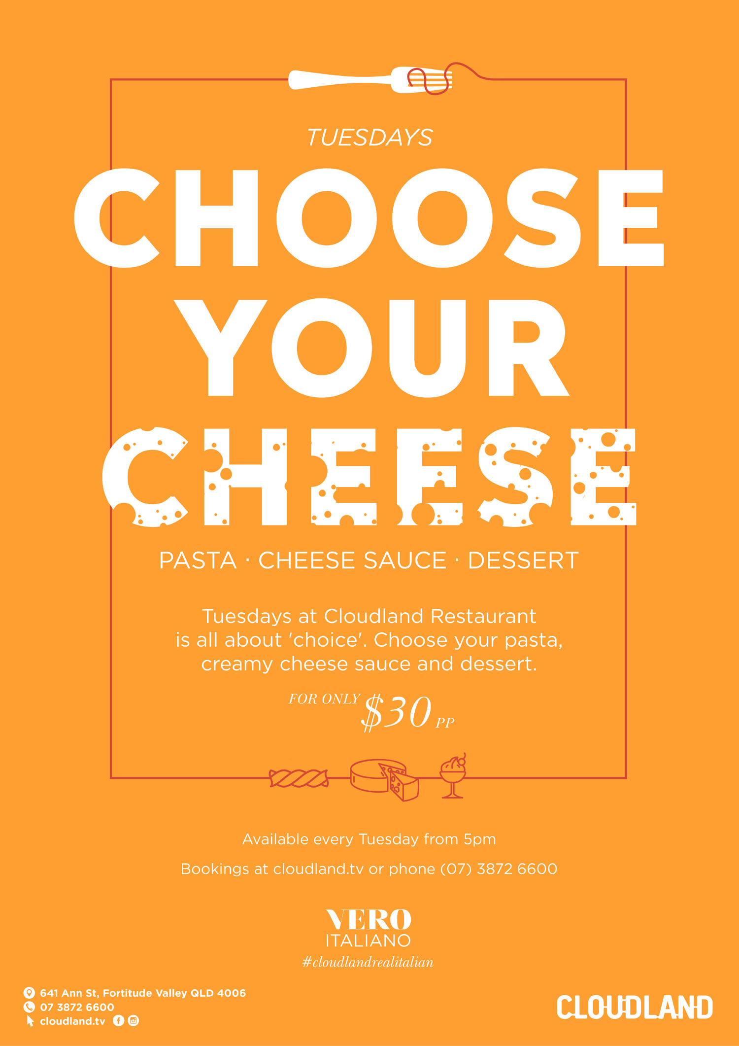 Cloudland Choose Your Cheese Tuesday