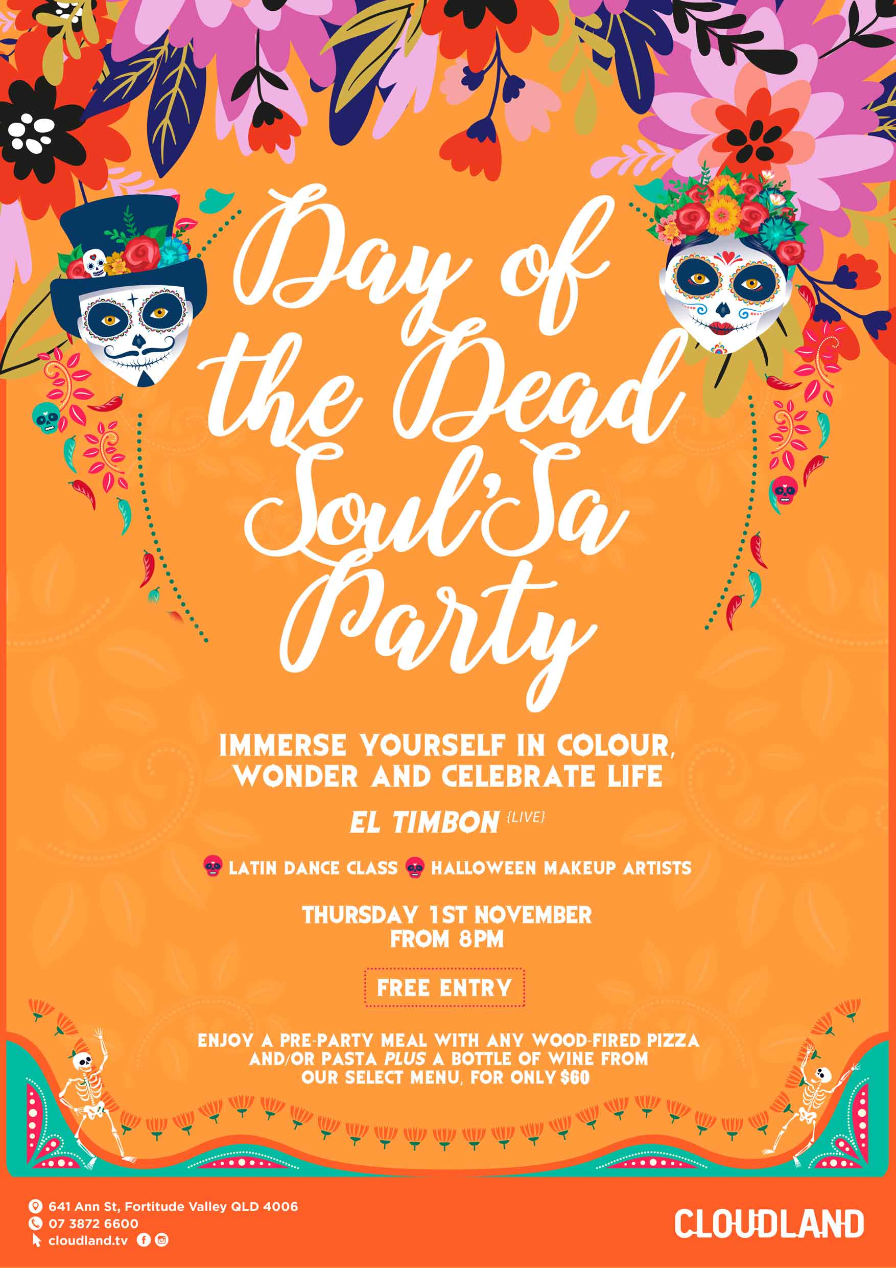 Day of the Dead Party Cloudland